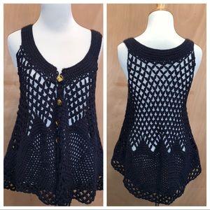 FREE PEOPLE | crochet vest size small